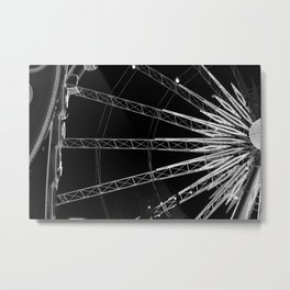 Black and White Neon Lights- 1 of 8 Metal Print