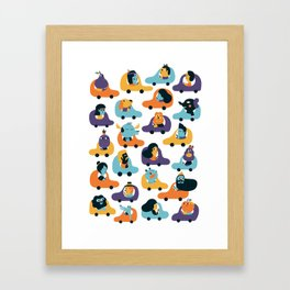 Little cars Framed Art Print