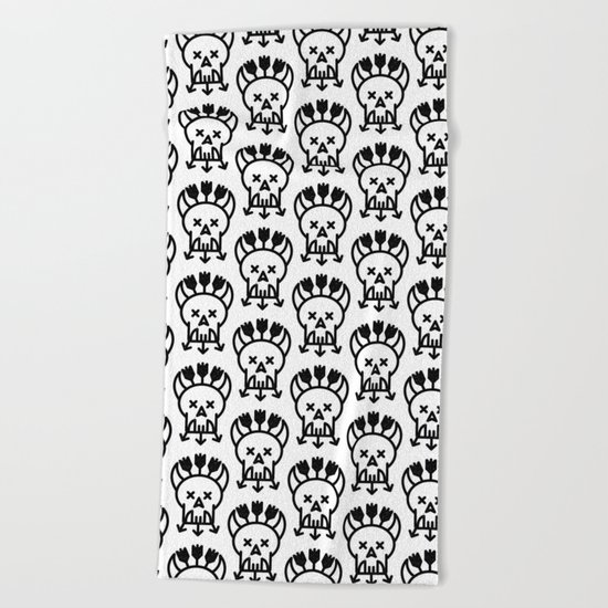 DEAD TROLL Beach Towel