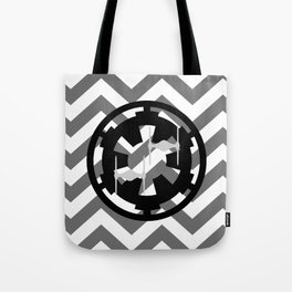 Star Wars Imperial Cog and Tie Fighters Chevrons Tote Bag