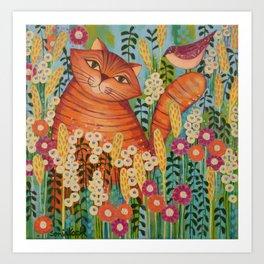 Cat in Love Art Print