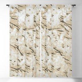 White blossom Blackout Curtain