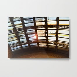 Weathered Window, Union Station, Toronto Metal Print