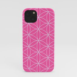 Flower of Life Pink & White iPhone Case