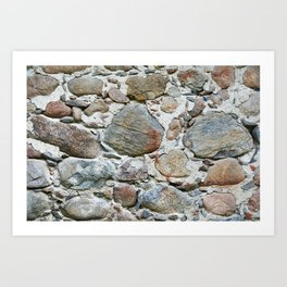 Old stone wall Art Print