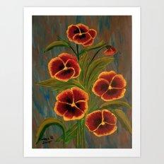 Pansies-2 Art Print