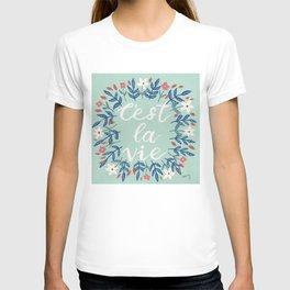 C'est La Vie Sage Green T-shirt