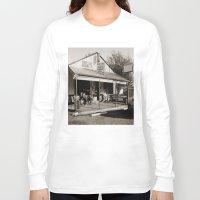 bar Long Sleeve T-shirts featuring Milk Bar by GrOoVy Photo Art