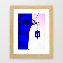 THE INTENSE BLUE LIGHT Framed Art Print