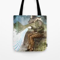 "dragon age inquisition Tote Bags featuring Dragon Age Inquisition - Cole - Charity by Barbara ""Yuhime"" Wyrowińska"