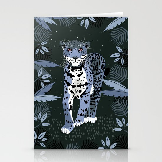 Midnight Jaguar Stationery Cards