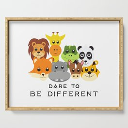 Dare to Be Different Gang of Animals Serving Tray