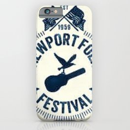1959 Newport Folk Festival Emblem Poster iPhone Case