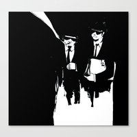 blues brothers Canvas Prints featuring blues brothers by serenita