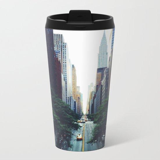 New York City Street Skyscapers Travel Wanderlust #tapestry Metal Travel Mug