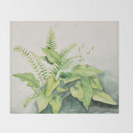 Woodland Watercolour Throw Blanket