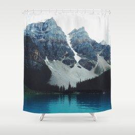 Moody Moraine lake Shower Curtain