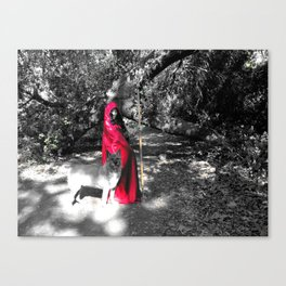 Red Riding Hood and Wolf Canvas Print