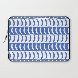Wavy Stripes Blue 2 Laptop Sleeve