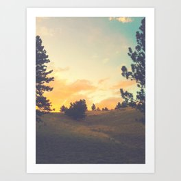 falling through a field Art Print