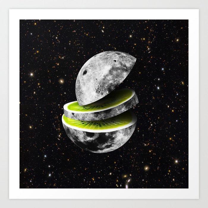 Kiwi Moon Art Print
