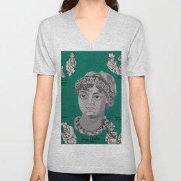 Jane Austen Bust Unisex V-Neck