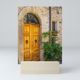 Wooden door in Siena | Tuscany, Italy (Europe) | Colorful Travel Photography Mini Art Print