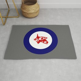 Silvereye Air Force Roundel Rug