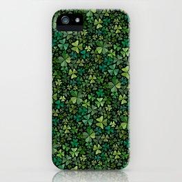 Luck in a Field of Irish Clover iPhone Case