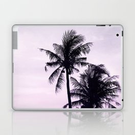 Palms on the Beach - Ultra violet, pink, purple and black Laptop & iPad Skin