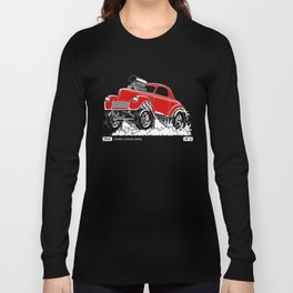 1941 WILLYS Classic Rodder - RED Long Sleeve T-shirt