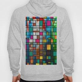 Abstract Modern Art Grid Pattern Hoody