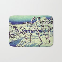 Path in the Snow Bath Mat