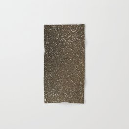 Bronze Gold Burnished Glitter Hand & Bath Towel