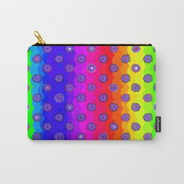 Rainbow and purple flowers Carry-All Pouch