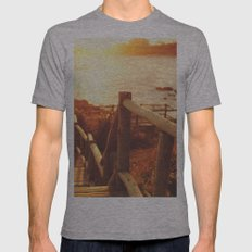 Sunset I Mens Fitted Tee Athletic Grey SMALL