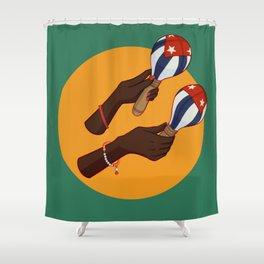 Cuban Maracas Shower Curtain