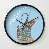 buffy the vampire slayer Wall Clocks featuring Under your spell - buffy the vampire slayer by Rebecca McGoran