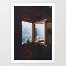 Dolomite Cabin Art Print