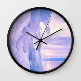 Ice cliff of Lake Baikal Wall Clock