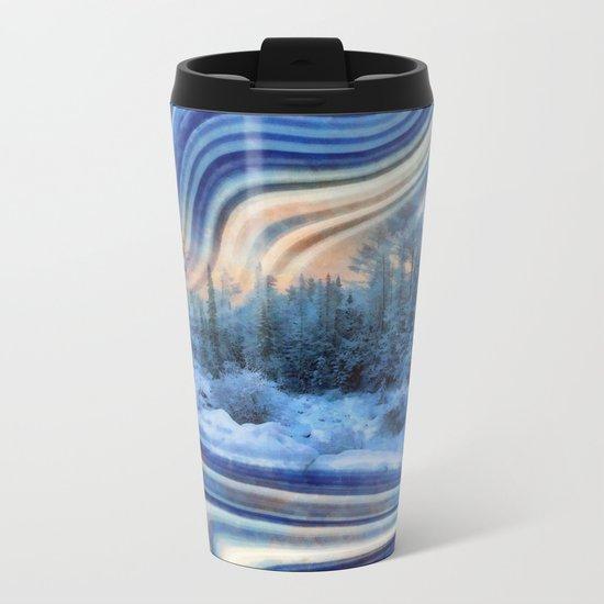 Surreal winter forest Metal Travel Mug