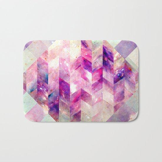 Abstract Geometric Pink Galaxy Bath Mat