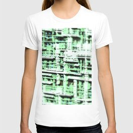 Abstract structure building house modern intricate pattern background T-shirt