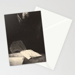 It was a hand of flesh and blood just like my own - Redon Stationery Cards