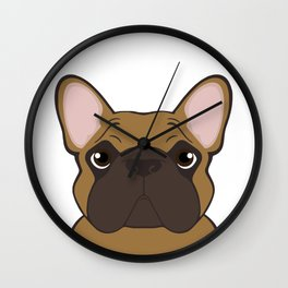 Frenchie - Fawn Wall Clock