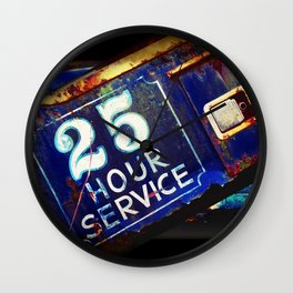Greetings from the Rustbelt III:  25 Hour Service Wall Clock