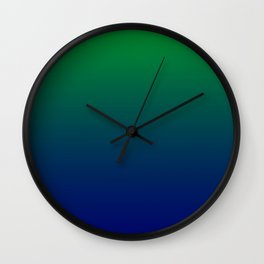 Green to Blue Gradient Wall Clock