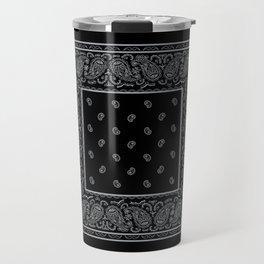 Black and Silver Bandana Travel Mug