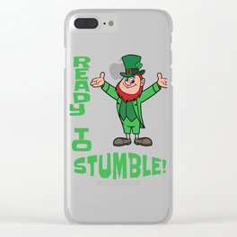 St. Patrick's Day Ready to Stumble Leprechaun Clear iPhone Case