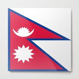 Flag of Nepal Metal Print